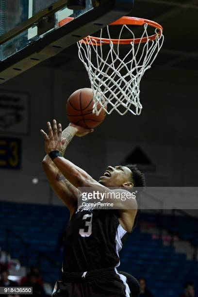 Jaylen Adams of the St Bonaventure Bonnies drives to the basket against the La Salle Explorers during the first half at Tom Gola Arena on February 13...