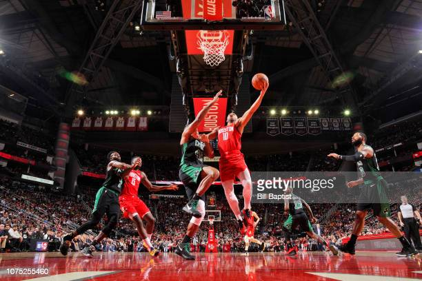 Jaylen Brown of the Boston Celtics drives to the basket against the Houston Rockets on December 27 2018 at the Toyota Center in Houston Texas NOTE TO...