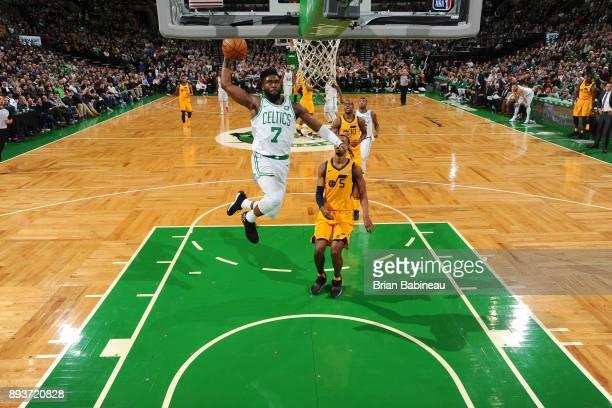 Jaylen Brown of the Boston Celtics dunks the ball against the Utah Jazz on December 15 2017 at the TD Garden in Boston Massachusetts NOTE TO USER...