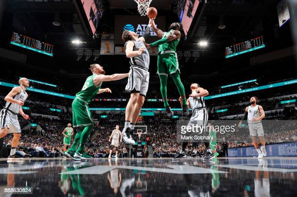 Jaylen Brown of the Boston Celtics goes to the basket against the San Antonio Spurs on December 8 2017 at the ATT Center in San Antonio Texas NOTE TO...