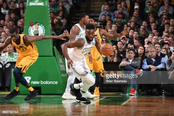 Jaylen Brown of the Boston Celtics handles the ball against the Utah Jazz on December 15 2017 at the TD Garden in Boston Massachusetts NOTE TO USER...