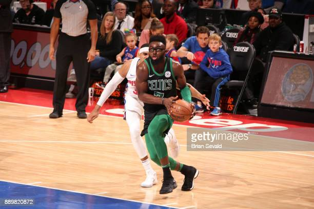 Jaylen Brown of the Boston Celtics handles the ball Detroit Pistons on December 10 2017 at Little Caesars Arena in Detroit Michigan NOTE TO USER User...