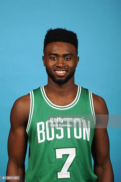 Jaylen Brown of the Boston Celtics poses for a head shot during the 20162017 Boston Celtics Media Day on September 26 2016 at the TD Garden in Boston...