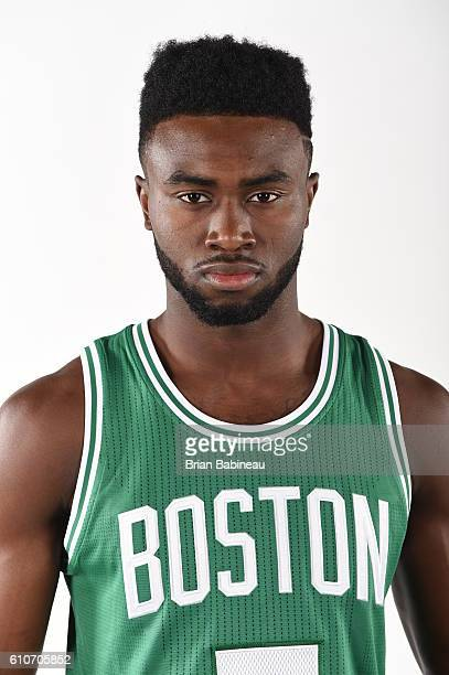 Jaylen Brown of the Boston Celtics poses for a portrait during 20162017 Boston Celtics Media Day at TD Garden on September 26 2016 in Boston...