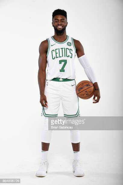 Jaylen Brown of the Boston Celtics poses for a portrait during the 201718 NBA Media Day on September 25 2017 at the TD Garden in Boston Massachusetts...