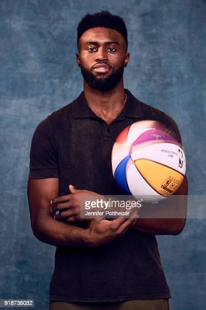 Jaylen Brown of the Boston Celtics poses for portraits during the NBAE Circuit as part of 2018 NBA AllStar Weekend on February 15 2018 at the JW...