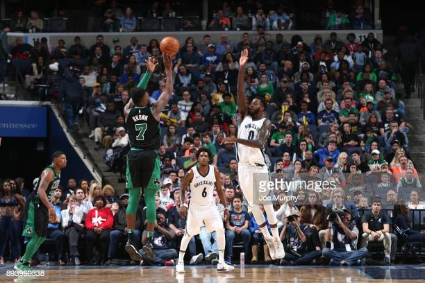 Jaylen Brown of the Boston Celtics shoots the ball against JaMychal Green of the Memphis Grizzlies on December 16 2017 at FedEx Forum in Memphis Ohio...