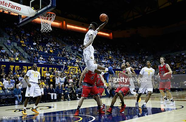 Jaylen Brown of the California Golden Bears dunks the ball during their game against the Incarnate Word Cardinals at Haas Pavilion on December 9 2015...