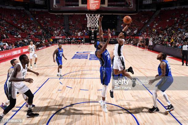 Jaylen Hands of the Brooklyn Nets goes to the basket against the Orlando Magic on July 10 2019 at the Thomas Mack Center in Las Vegas Nevada NOTE TO...