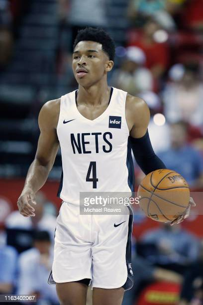 Jaylen Hands of the Brooklyn Nets in action against the Washington Wizards during the 2019 Summer League at the Thomas Mack Center on July 08 2019 in...