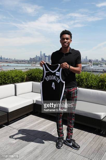 Jaylen Hands of the Brooklyn Nets poses for a photo at a press conference on June 24 2018 at Barclays Center in Brooklyn New York NOTE TO USER User...