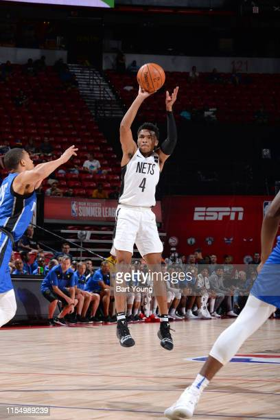 Jaylen Hands of the Brooklyn Nets shoots the ball against the Orlando Magic on July 10 2019 at the Thomas Mack Center in Las Vegas Nevada NOTE TO...