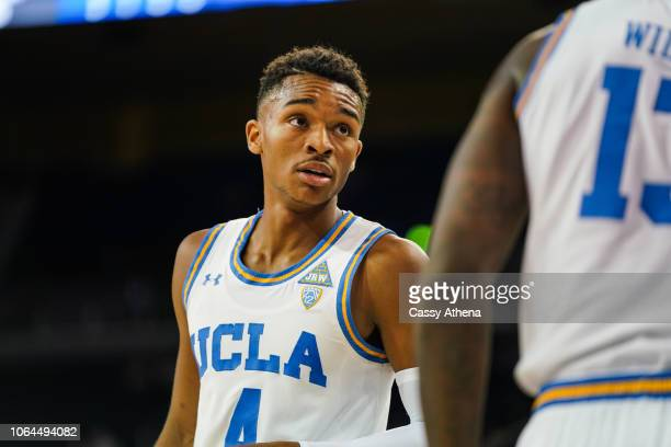 Jaylen Hands of the UCLA Bruins looks on against the Fort Wayne Mastodons during a game at Pauley Pavilion on November 6 2018 in Los Angeles...
