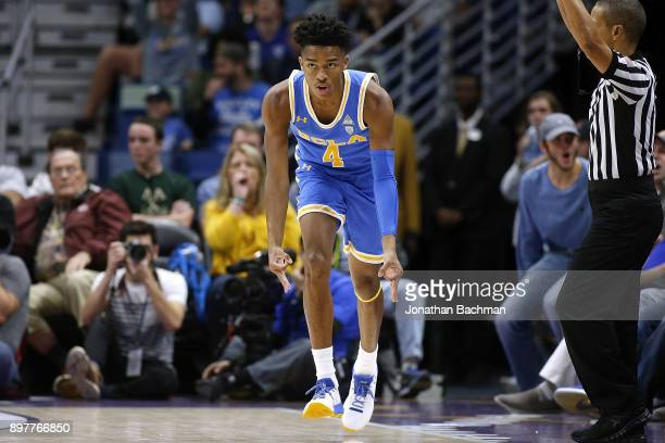 Jaylen Hands of the UCLA Bruins reacts after scoring during the second half of the CBS Sports Classic against the Kentucky Wildcats at the Smoothie...