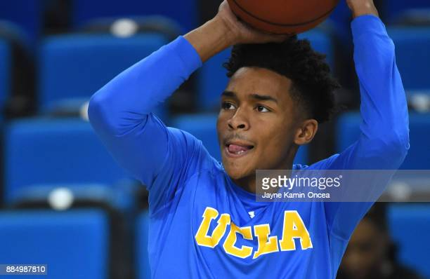 Jaylen Hands of the UCLA Bruins warms up before the game against the Detroit Mercy Titans at Pauley Pavilion on December 3 2017 in Los Angeles...