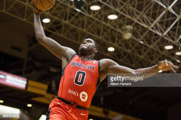 Jaylen Johnson of the Windy City Bulls dunks the ball against the Canton Charge on December 15 2017 at the Canton Memorial Civic Center in Canton...