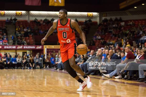 Jaylen Johnson of the Windy City Bulls handles the ball against the Canton Charge on December 15 2017 at the Canton Memorial Civic Center in Canton...