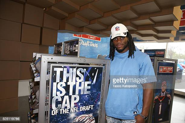 Jaylon Smith at th NFL Store during NFL Draft Week 2016 on April 27 2016 in Chicago Illinois