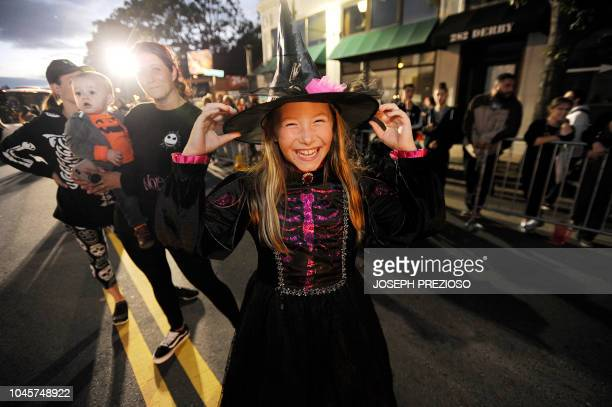 Jaylynn Laliberte is excited for the parade to start at the 23rd Annual Salem Chamber of Commerce Haunted Happenings Grand Parade which launches the...