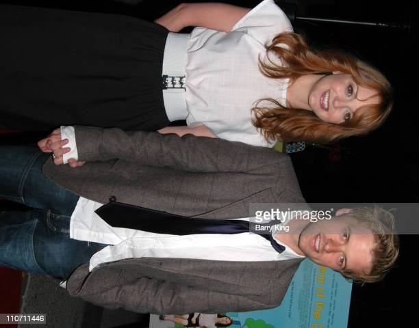 Jayma Mays and Adam Campbell during Year of the Dog Los Angeles Premiere Arrivals at The Paramount Pictures Theater in Los Angeles California United...