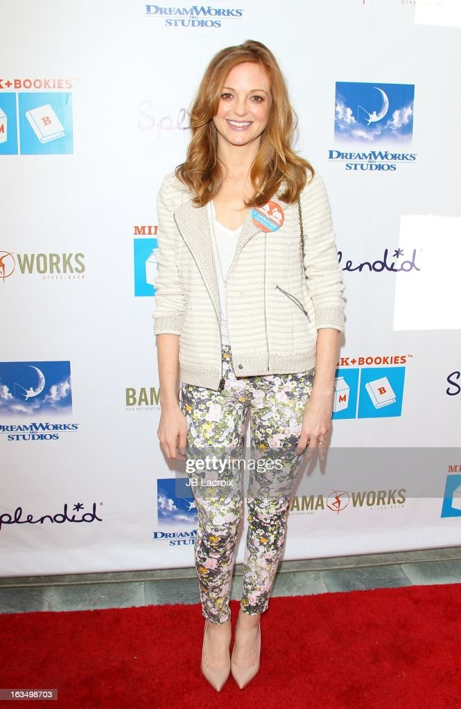 Jayma Mays attends the 4th Annual Milk + Bookies Story Time Celebration at Skirball Cultural Center on March 10, 2013 in Los Angeles, California.