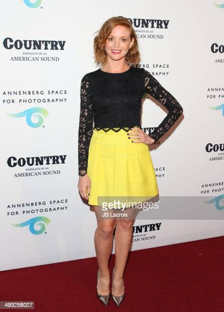 Jayma Mays attends the Annenberg Space for Photography Opening Celebration for 'Country Portraits of an American Sound' at the Annenberg Space for...