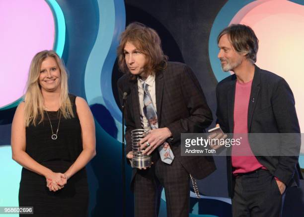 Jayme Blasko David Rolfe and Greg Hahn accept award onstage at The 22nd Annual Webby Awards at Cipriani Wall Street on May 14 2018 in New York City