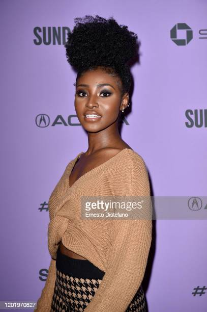 Jayme Lawson attends the 2020 Sundance Film Festival Farewell Amor Premiere at Library Center Theater on January 25 2020 in Park City Utah