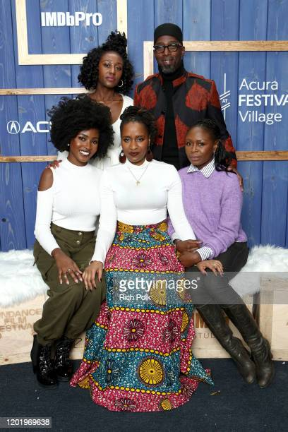 Jayme Lawson Nana Mensah Ekwa Msangi Zainab Jah and Ntare Guma Mbaho Mwine of 'Farewell Amor' attends the IMDb Studio at Acura Festival Village on...