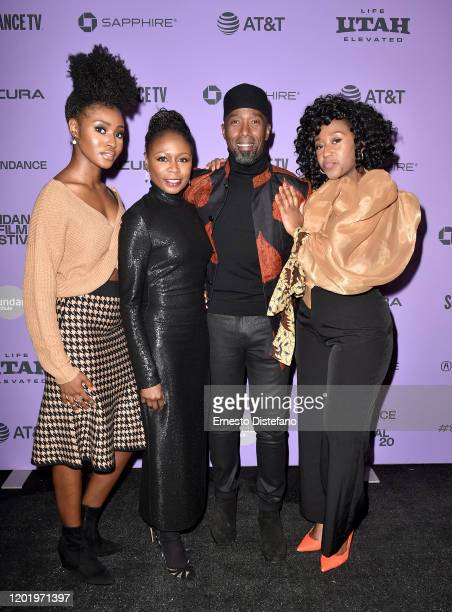 Jayme Lawson Zainab Jah Ntare Guma Mbaho Mwine and Nana Mensah attend the 2020 Sundance Film Festival Farewell Amor Premiere at Library Center...