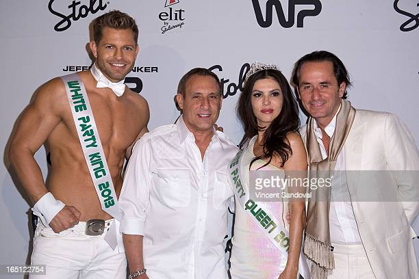 Jaymes Vaughan Jeffrey Sanker TV personality Adriana De Moura and fiance Frederic Marq attend The White Party during Jeffrey Sanker Presents White...