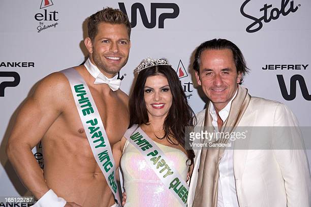 Jaymes Vaughan TV personality Adriana De Moura and fiance Frederic Marq attend The White Party during Jeffrey Sanker Presents White Party Palm...
