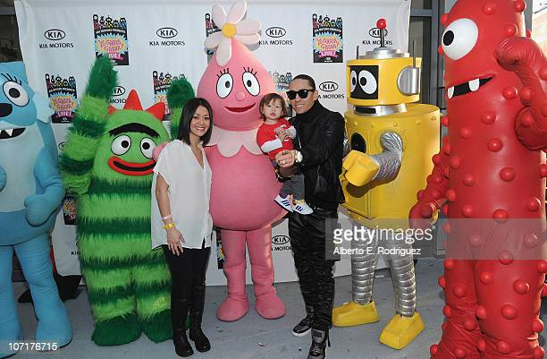 Jaymie Dizon musician Taboo and son Jimmy Gomez attend Yo Gabba Gabba Live There's A Party In My City at Nokia LA Live on November 27 2010 in Los...