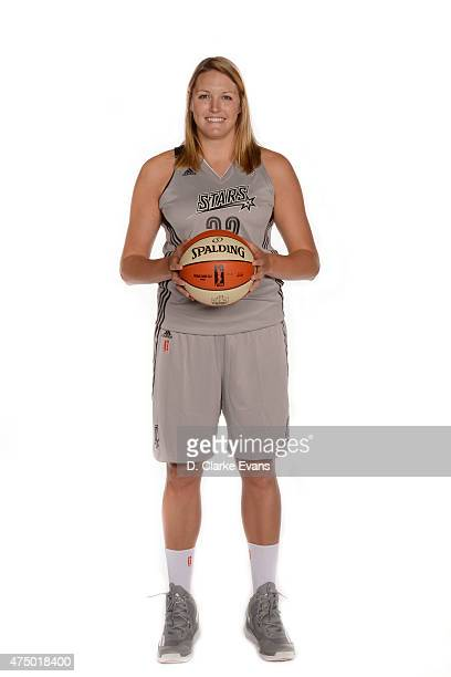 Jayne Appel of the San Antonio Stars poses for a portrait during Media Day at the Freeman Coliseum on May 26 2015 in San Antonio Texas NOTE TO USER...