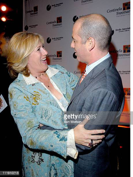 Jayne Atkinson and Howard Gordon during The Stroke Recovery Center Benefit Honoring Howard Gordon With Honorary CoChair Kiefer Sutherland in Los...