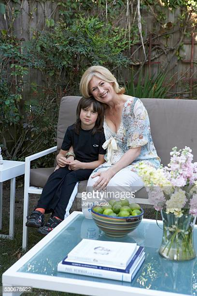 Jayne Atkinson at Home with Son Michael