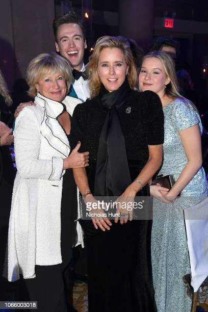 Jayne Atkinson Erich Bergen Tea Leoni and Madelaine West Duchovny attend the 14th Annual UNICEF Snowflake Ball 2018 on November 27 2018 in New York...