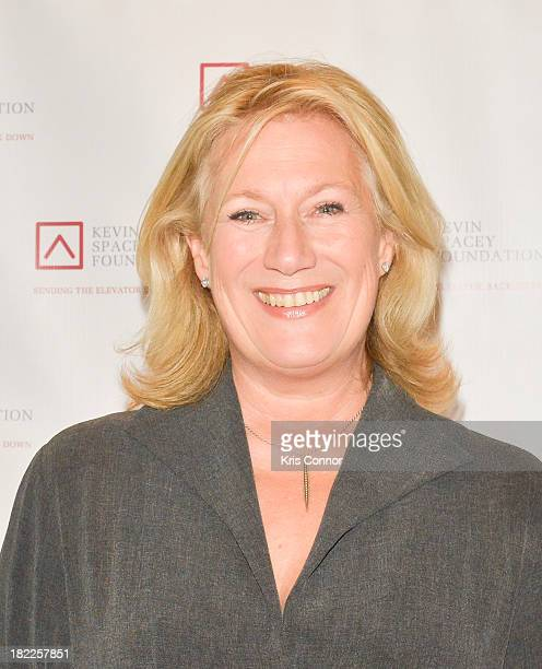 Jayne Atkinson poses on the red carpet during the Kevin Spacey Foundation Washington Gala Dinner at Mandarin Oriental Hotel on September 28 2013 in...