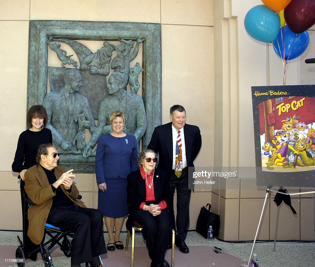 Hanna-Barbera Wall Sculpture Unveiled at the Academy of Television Arts and Sciences : News Photo