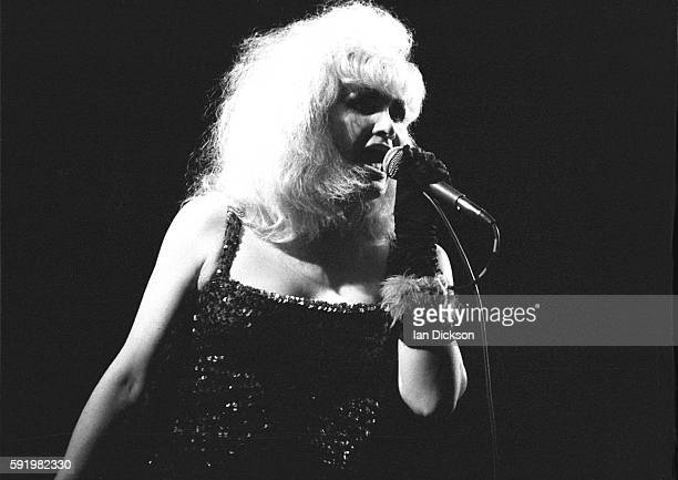Jayne County performing on stage at The Roundhouse London 17 November 1977