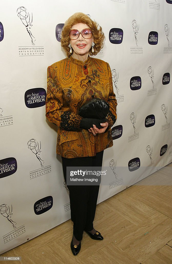 Jayne Meadows during 10th Anniversary of The Archive of American TV - Red Carpet and Inside at Crustacean in Beverly Hills, California, United States.