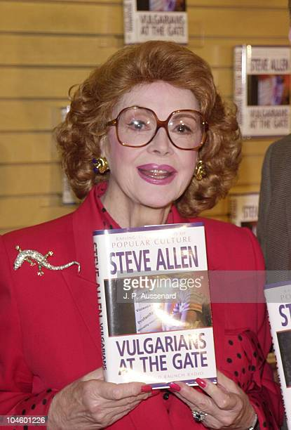 Jayne Meadows during Jayne Meadows Book Signing at Barnes & Noble in Santa Monica, California, United States.