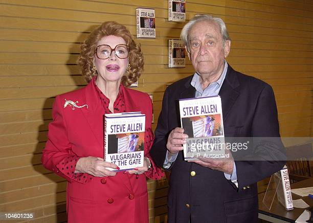 Jayne Meadows & Louis Nye during Jayne Meadows Book Signing at Barnes & Noble in Santa Monica, California, United States.