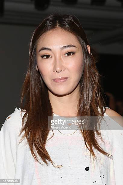 Jayne Min attends the Dion Lee fashion show during Spring 2016 MADE Fashion Week at Milk Studios on September 12 2015 in New York City