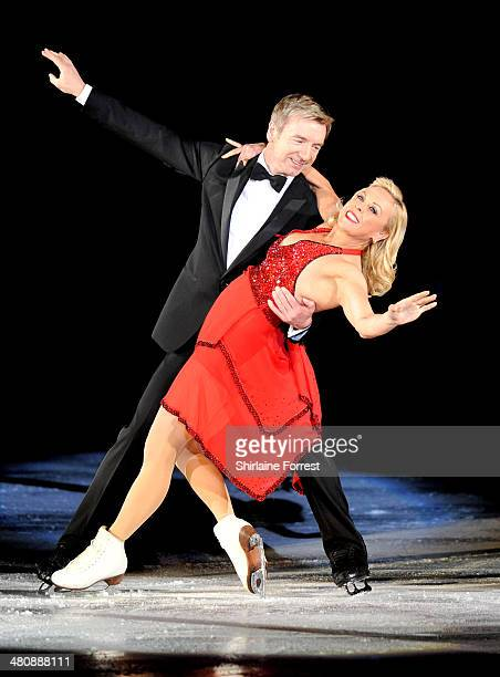 Jayne Torvill and Christopher Dean attend a photocall to launch the final tour of Torvill Dean's Dancing On Ice at Phones 4 U Arena on March 27 2014...