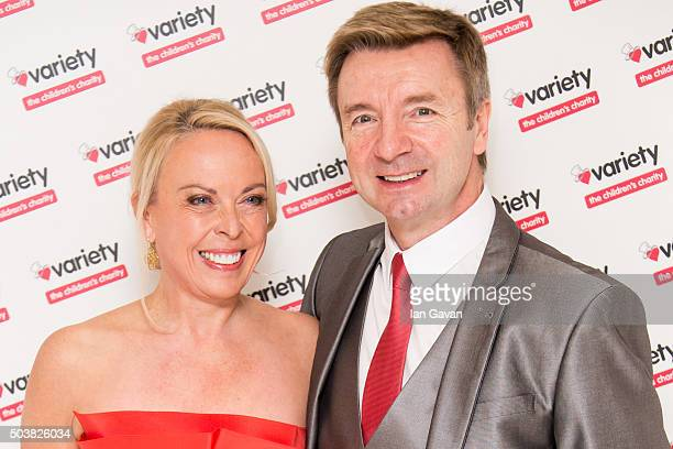 Jayne Torvill and Christopher Dean attend a Torvill and Dean tribute lunch in aid of Variety at The Dorchester on January 7 2016 in London England