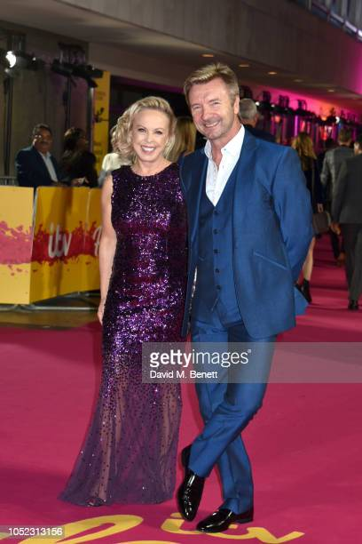Jayne Torvill and Christopher Dean attend ITV Palooza! at The Royal Festival Hall on October 16, 2018 in London, England.