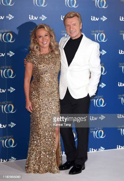 Jayne Torvill and Christopher Dean attend the Dancing On Ice 2019 photocall at the Dancing On Ice Studio, ITV Studios, Old Bovingdon Airfield on...