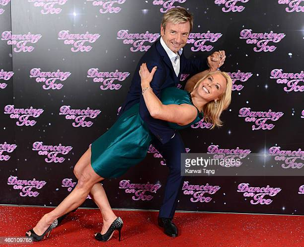 Jayne Torvill and Christopher Dean attend the series launch photocall for Dancing on Ice held at the London Studios on January 2 2014 in London...
