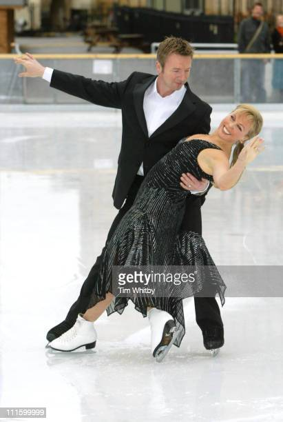 Jayne Torvill and Christopher Dean during 'Dancing on Ice' Photocall at Natural History Museum in London Great Britain